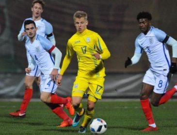 Молодежная сборная Украины по футболу проиграла Англии в матче отбора ЧЕ-2019
