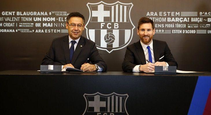 Месси официально продлил контракт с Барселоной