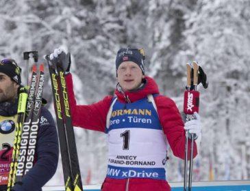 Йоханнес Бе выиграл четвертую гонку подряд на Кубке мира по биатлону