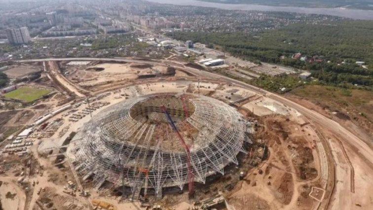 Россия не успевает построить стадион к ЧМ-2018