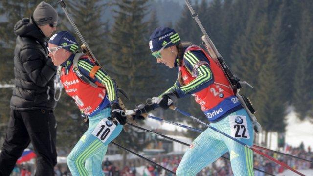 Украинские биатлонистки провалили эстафету на этапе Кубка мира