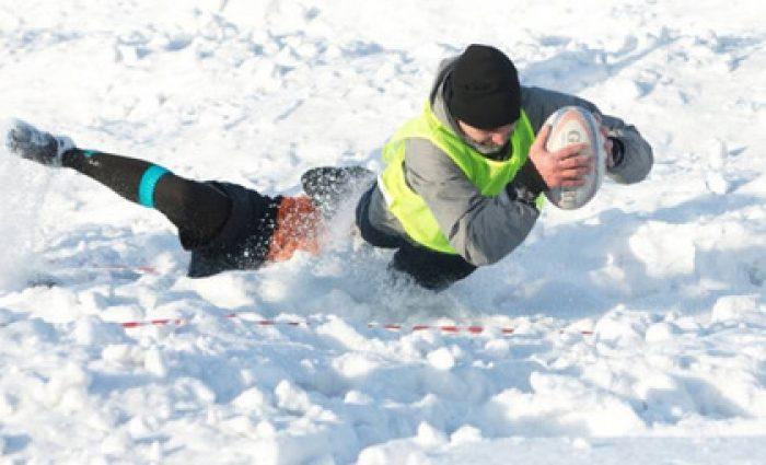На Закарпатье состоялся открытый Всеукраинский турнир по зимнему регби