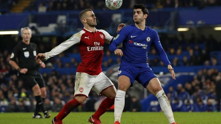 Челси сыграл вничью с Арсеналом в первом поединке полуфинала Кубка лиги