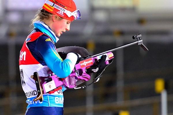 Украинская биатлонистка завоевала серебро на соревнованиях в России