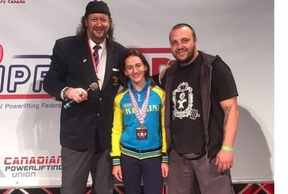 На чемпионате мира по классическому пауэрлифтингу хмельничанка выиграла 1 место