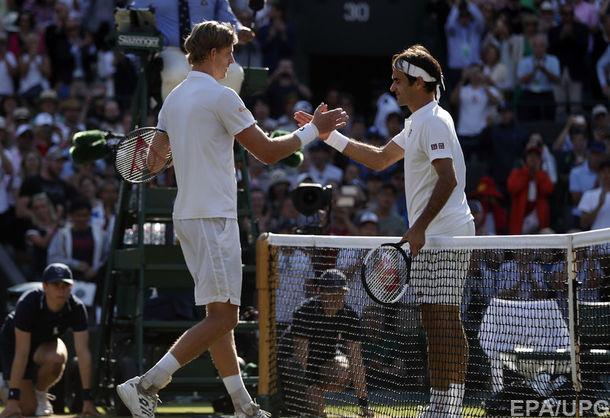 Сенсационное поражение Роджера Федерера на Уимблдоне