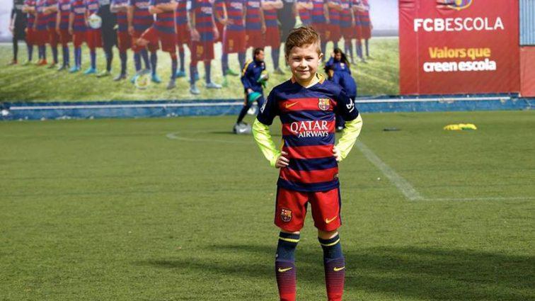 8-летний украинец Родион Калашников принят в академию «Барселоны»