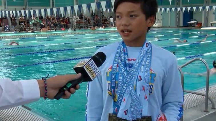«Новый Кларк Кент»: 10-летний пловец побил олимпийский рекорд
