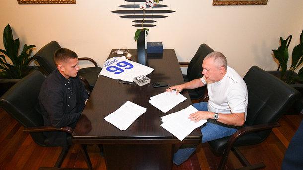 Датский нападающий подписал контракт с ФК «Динамо» Киев