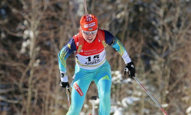 Украинская спортсменка Надежда Белкина получила первую медаль на Кубке IBU по биатлону