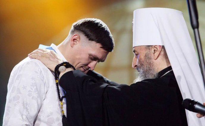 «Продолжение следует» Александр Усик получил награду из рук предстоятеля УПЦ МП