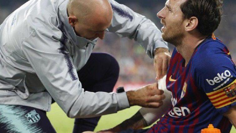 Нападающий «Барселоны» Лионель Месси получил серьезную травму в матче чемпионата Испании