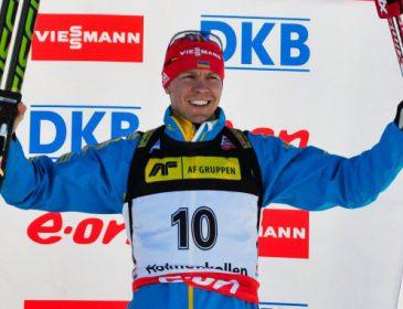 41-летний украинский биатлонист Дериземля триумфально победил в Гонке легенд